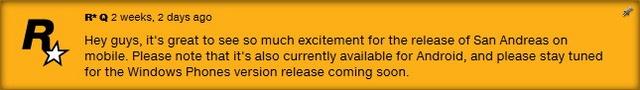 Game GTA San Andreas untuk Windows Phone Akan Dirilis