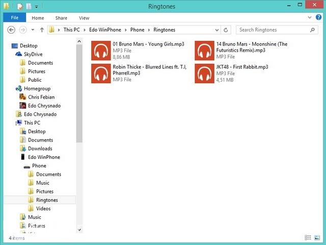 Cara Menambahkan Ringtone di Windows Phone 8