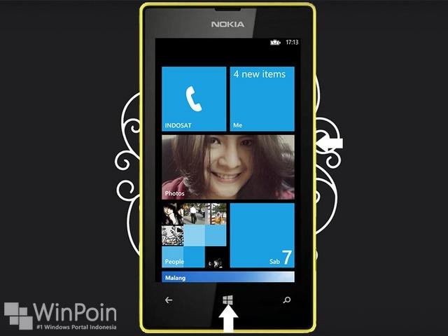 Cara Mengambil Screenshot di Nokia Lumia 520