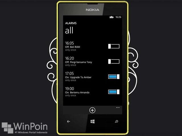 Cara Mengatur Alarm di Windows Phone 8