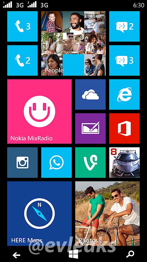 Screenshot dari Tampilan Nokia Dual-SIM Moneypenny Bocor