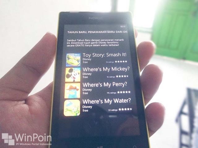 Giveaway: Dapatkan 7 Game Gratis dari Disney untuk Windows Phone