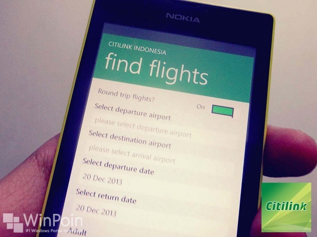 Aplikasi Official Citilink Indonesia Kini ada di Windows Phone