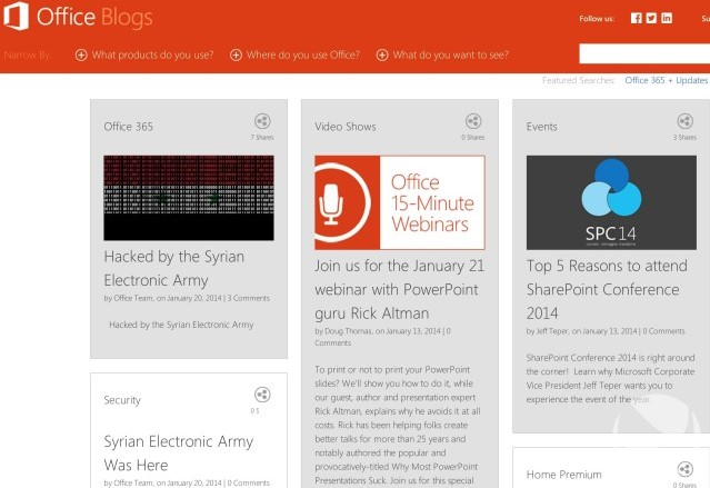 Blog Microsoft Office Dibobol Hacker Syrian Electronic Army