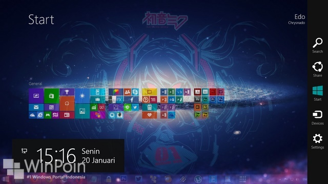 Cara Membuat Start Screen Windows 8.1 Menjadi Transparan