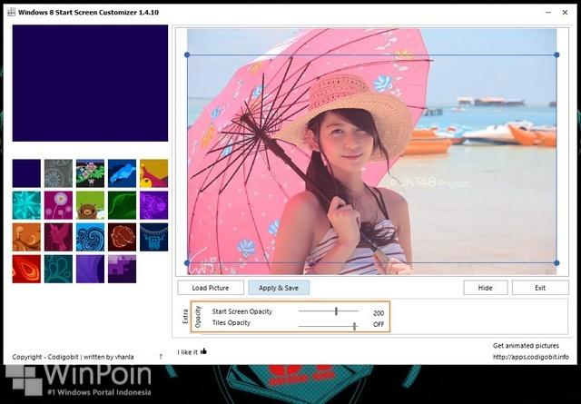 Cara Membuat Start Screen Windows 8.1 Menjadi Transparan
