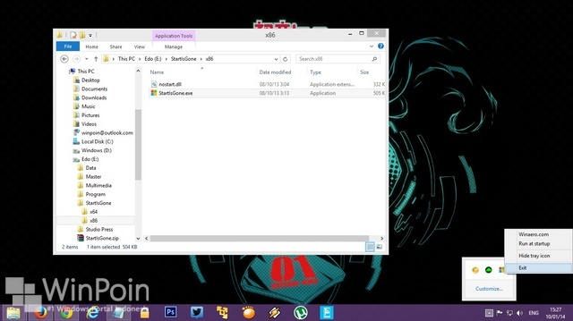 Cara Menyembunyikan Start Menu di Windows 8.1