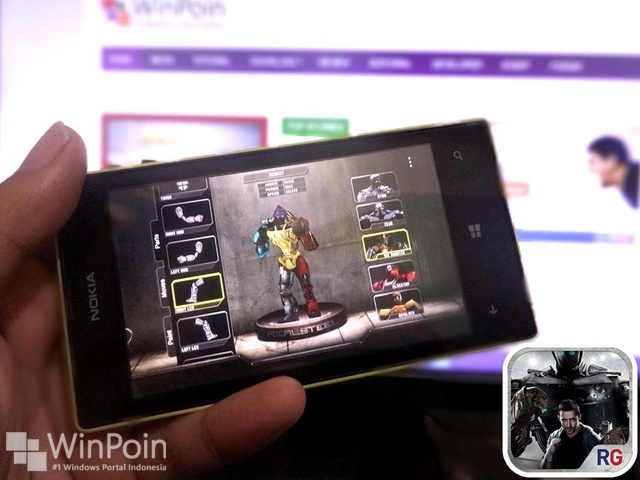Game Official Real Steel Sudah Dirilis Untuk Windows Phone 8