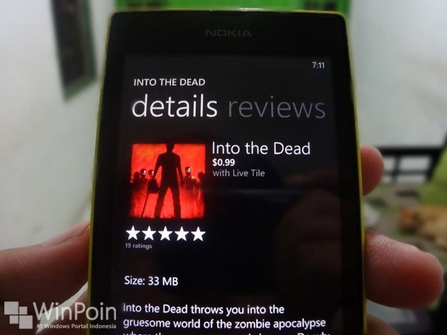 Sekarang Game Into the Dead Hadir di Windows Phone