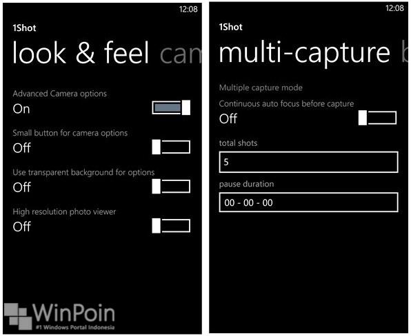 Aplikasi 1Shot untuk Windows Phone 8 telah Diupdate