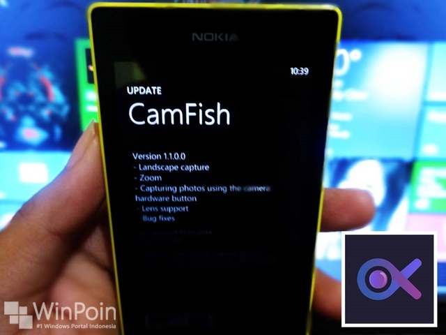 Update Aplikasi CamFish Windows Phone Ada Fitur Baru