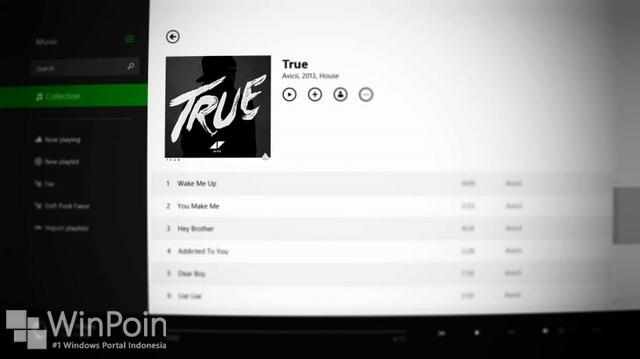 Update Minor untuk Aplikasi Xbox Music Windows 8.1