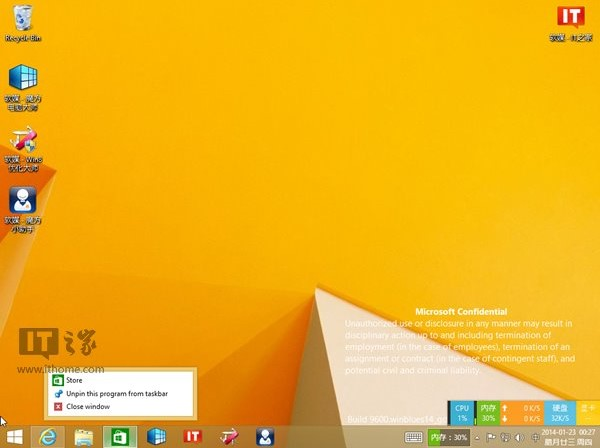 Selain Bisa di-Pin, Preview Modern Apps Juga Bisa Tampil di Taskbar Windows 8.1 Update 1
