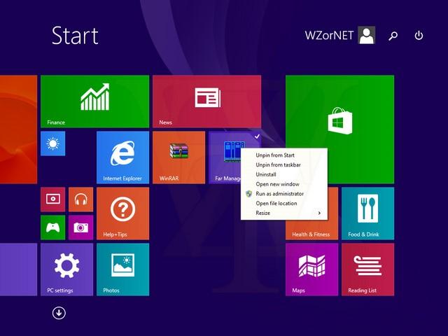 Tile Windows 8.1 Update 1 Dilengkapi Konteks Menu Ala Desktop