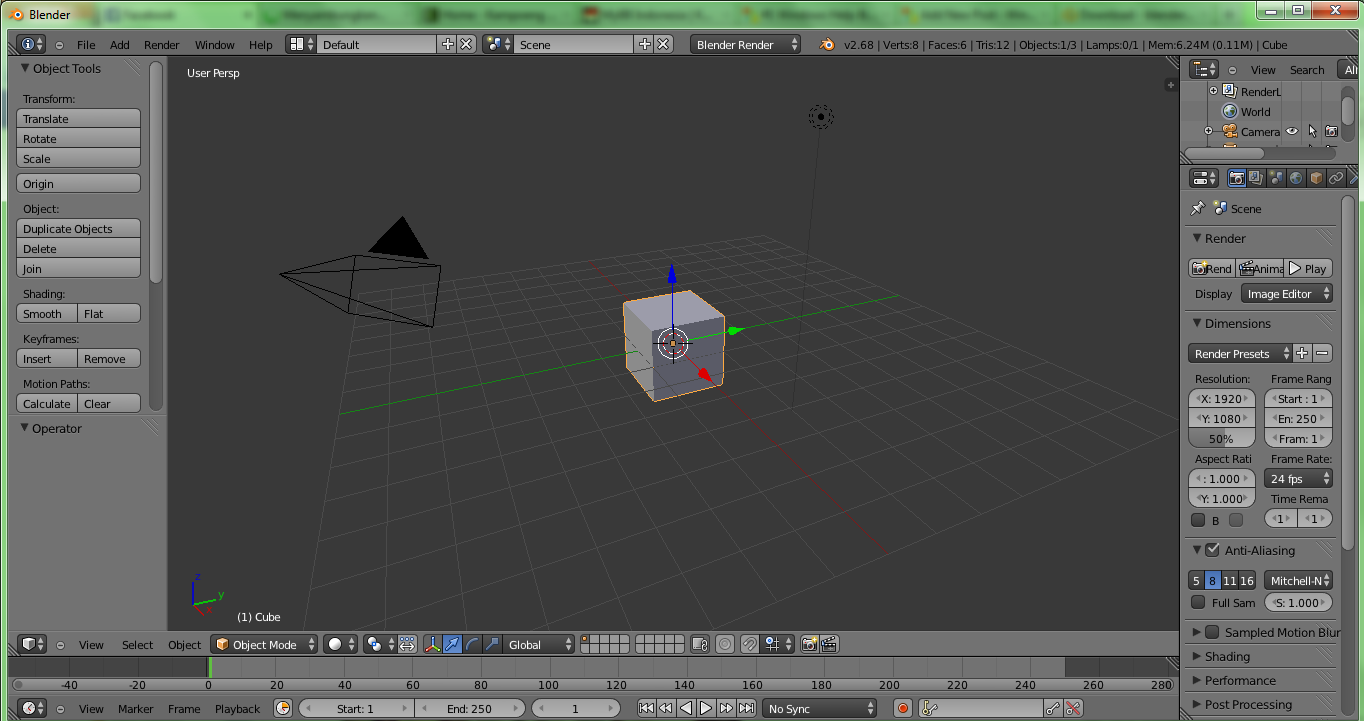 Blender 2.68a User Interface