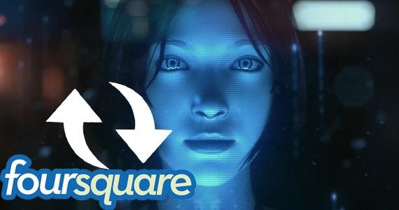 "Microsoft Voice Assistant ""Cortana"" Akan Terhubung Dengan Foursquare"