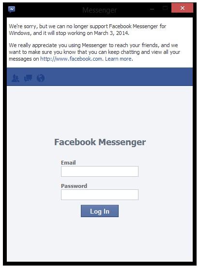 3 Hari Lagi Facebook Messenger untuk Windows Akan Dimatikan
