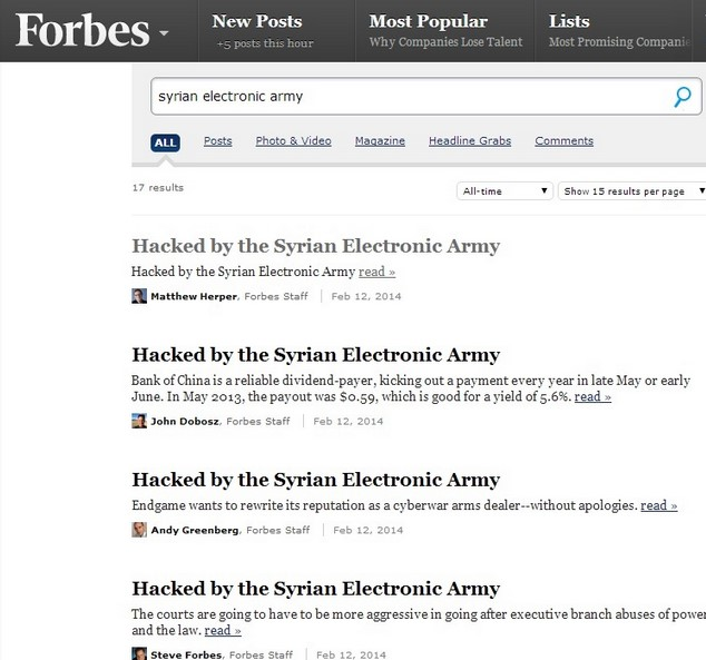 Forbes.com Dihack Syrian Electronic Army