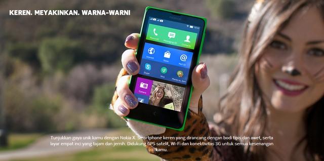 Nokia X dan Nokia XL Ber-OS Android Sudah Dipajang di Website Nokia Indonesia