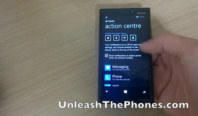 Muncul Video Action Center Windows Phone 8.1