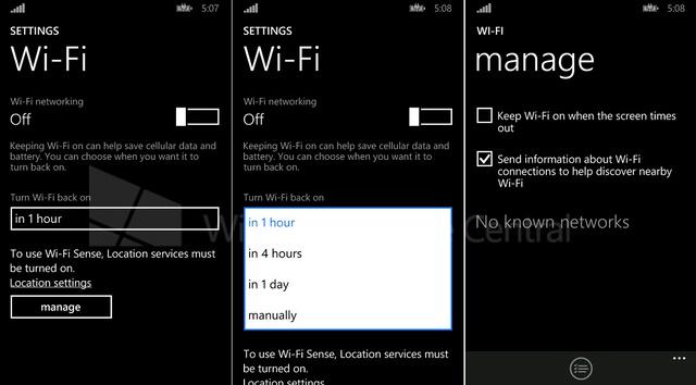 Windows Phone 8.1 Memiliki Pengaturan Wi-Fi yang Baru