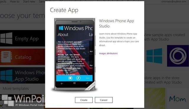 Windows Phone App Studio Beta Hadir dengan Tampilan Baru