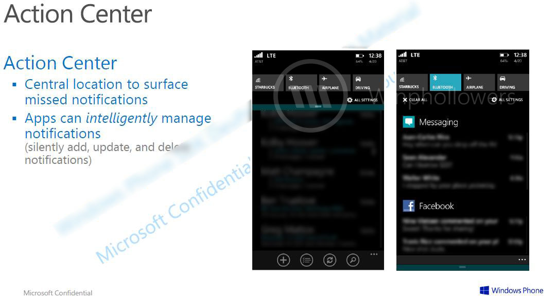 Muncul Screenshot dari Notification Center Windows Phone 8.1