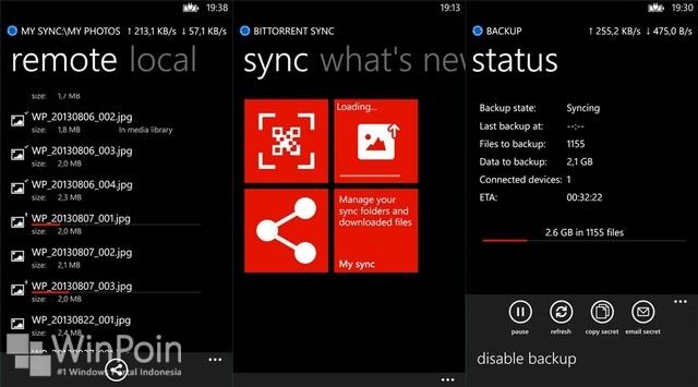 Aplikasi Official BitTorrent Sync Akan Segera Hadir di Windows Phone