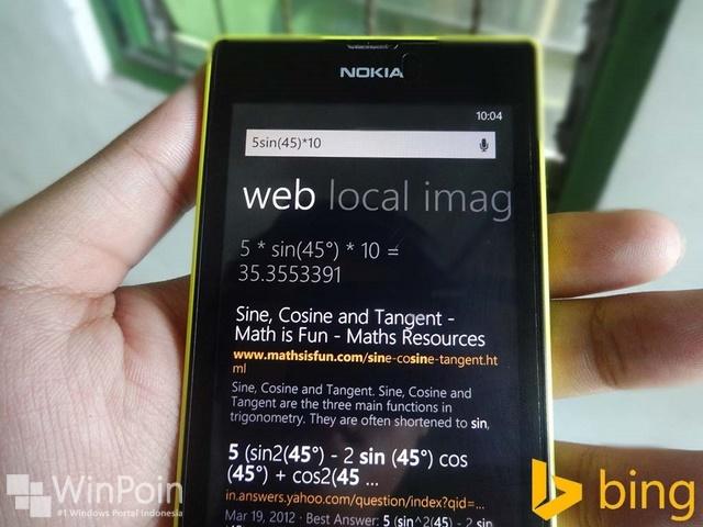 Akhirnya Bing Dilengkapi Dengan Tools Kalkulator