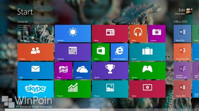 Cara Reset Default Tampilan Start Screen Windows 8