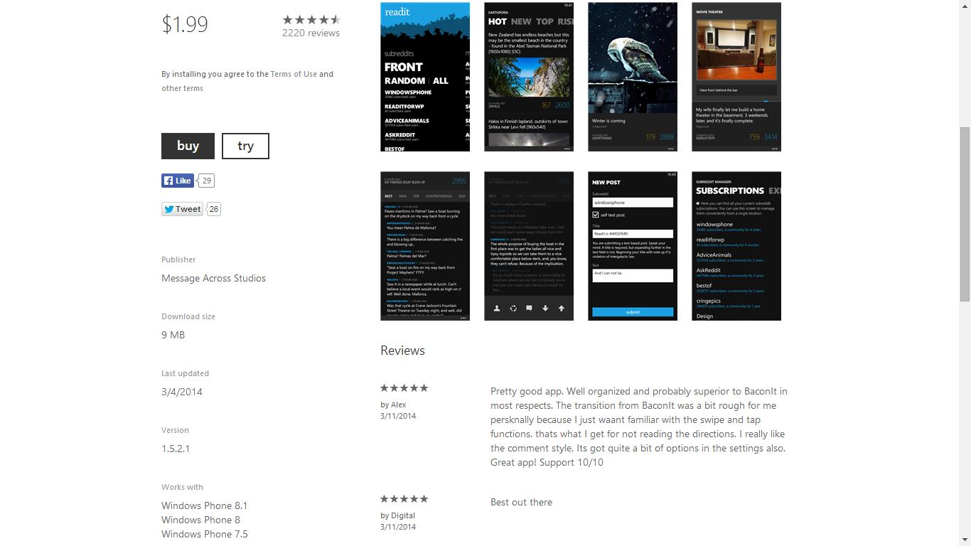 Compability Windows Phone 8.1 Muncul di Windows Phone Store