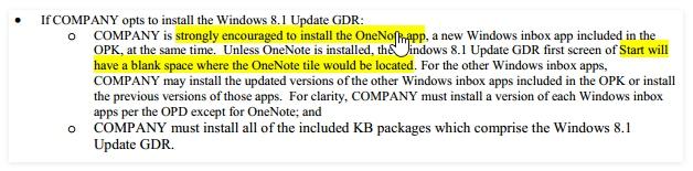 Microsoft Meminta Semua Manufaktur Memasukkan OneNote di Windows 8.1 Update