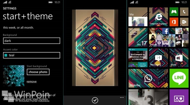 Cara Mengganti Background Start Screen Windows Phone 8.1