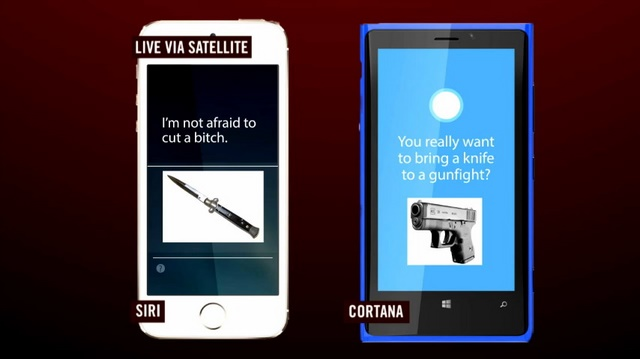 Cortana VS Siri Dalam Acara Arsenio