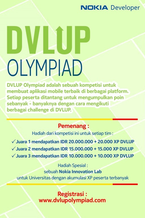 Ikuti Kompetisi Aplikasi Mobile Terbaik: DVLUP Olympiad 2014