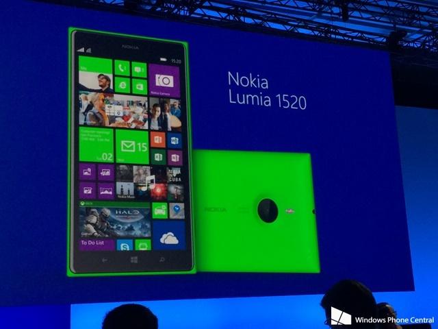 Nokia Lumia 1520 Warna Hijau Diperlihatkan di Event BUILD 2014