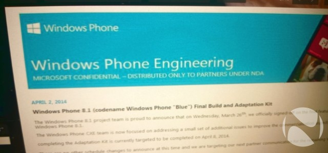 Windows Phone 8.1 versi Developer Preview akan Dirilis 14 April
