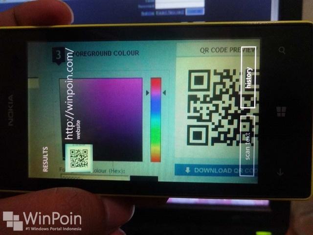 Cara Scan Barcode atau QR Code di Windows Phone 8.1