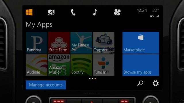 Microsot Menunjukan Konsep Windows Phone yang Terhubung dengan Mobil