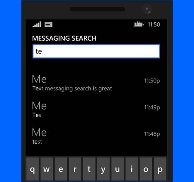 Windows Phone 8.1 Menyediakan Fitur Untuk Searching SMS