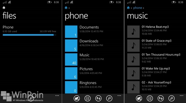 Files: Download Aplikasi File Manager untuk Windows Phone dari Microsoft