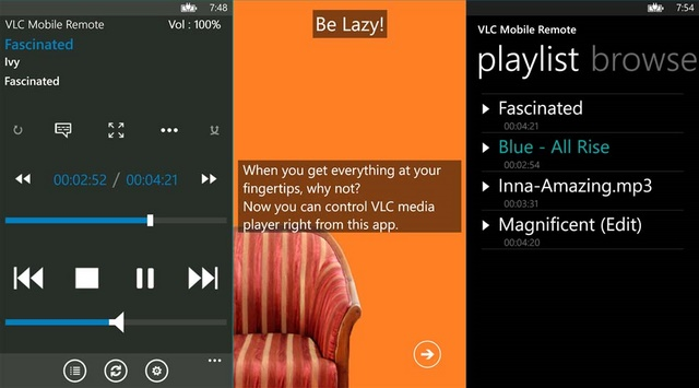 VLC Mobile Remote: Kontrol VLC Media Player di Komputer Kamu dengan Windows Phone