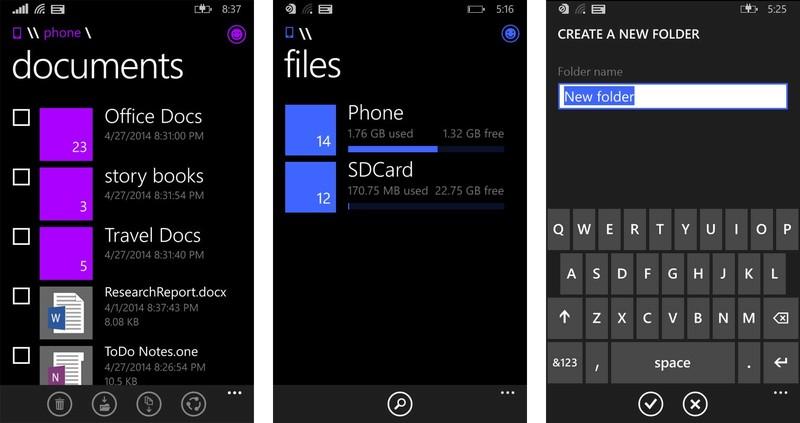 File Manager Akan Hadir di Windows Phone 8.1 Bulan Juni