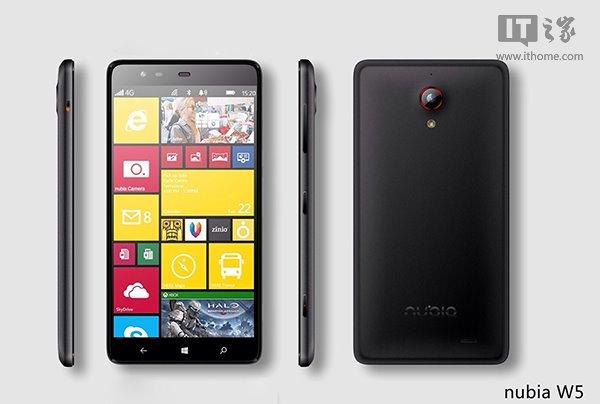 ZTE Nubia W5: Windows Phone High-End Pertama Dari ZTE