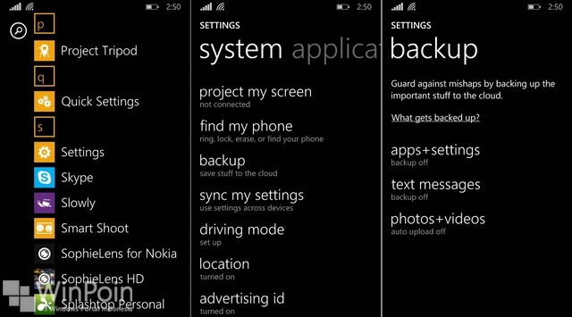 Cara Backup Windows Phone 8.1