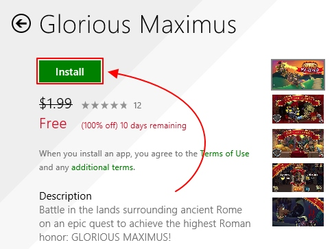 Dapatkan Game Glorious Maximus Senilai $1.99