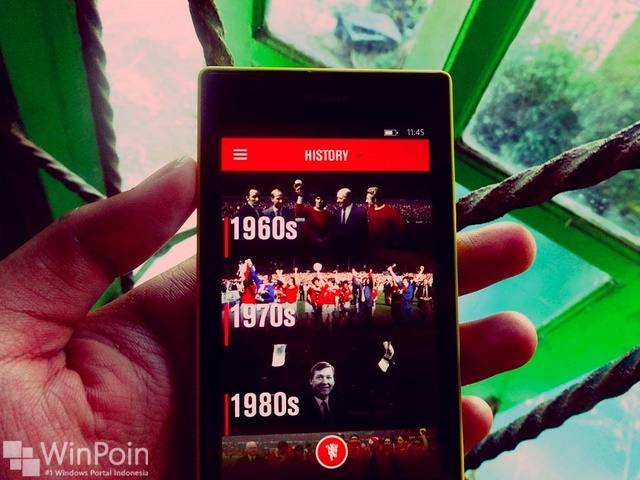 Aplikasi Official MU Hadir di WIndows Phone, Tapi...