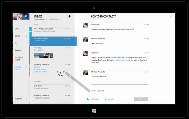 Wow..Inilah Tampilan Modern Office Berbasis Touch!