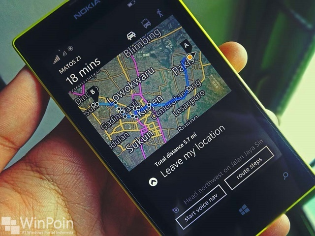 Nokia Kembali Mengeluarkan Update Offline Maps untuk Windows Phone
