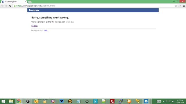 Wow..Facebook Error, Ada Apakah Gerangan?